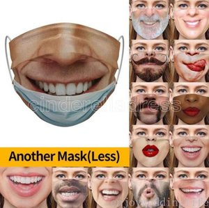 Reusable Washable Funny Fashion Face Mask 3D expression Emotions Non woven fabric Masks Dustproof Haze-proof Breathable masks FY9371