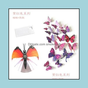 Décor Home & Gardenbutterfly Wall Stickers 3D Wallpaper Pvc House Decoration High Quality Wallpapers For Living Room Drop Delivery 2021 Qkut