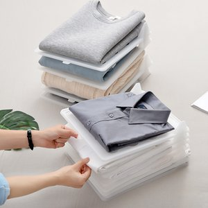 2021 New Clothes Folding Board Clothing Wardrobe Drawer Divider T-shirt Folder Multifuncitonal Stack Household Closet Organizer Unno