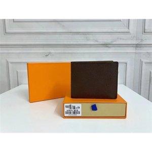 Alta calidad 8 colores Nuevos hombres monederos clásicos con caja de cuero cortos para hombres monedero monedero monedero titulares de tarjetas