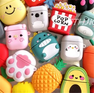 Cartoon For airpods case Silicone Cover For airpods Case Cute Earphone 3D Headphone case Protective
