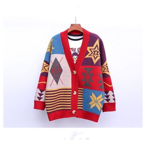 Fashion Turtleneck Ladies Sweater Women's Clothing Women's Sweater Color Patchwork Knit Pullover Embroidery Top Cardigan