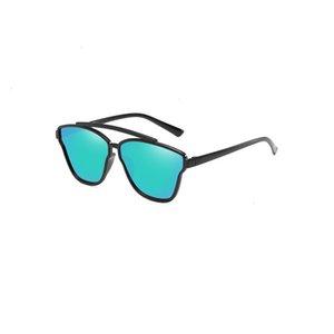 A1 UANVIEVIA (UANVIEVIA Nuevas tendencias de moda de placa brillante para hombres y mujeres Gafas de sol JY9761 0816
