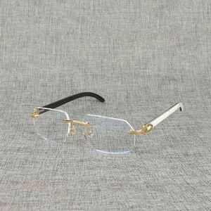 Ienbel Natural Wood Square Bright Buffalo Horn Oversize Random Frame for Men Read Optical Oval Eye Glass 5DHO