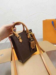 Mini shopping bags fashion old flower Tote music spectrum bag high quality single shoulder handbag classic men's crossbody wallet 1033