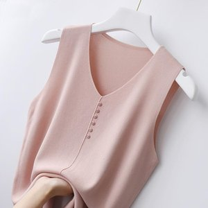 Eg ice silk suspender vest for women's new summer style, sleeveless knitting on the outside and women's thin base coat o