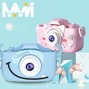 Children's Camera Cute Toy Cat Mini Digital Camera IPS Screen Education Toys For Children Birthday Gift