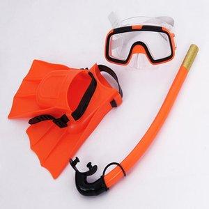 Songyi crianças silicone snorkel máscara natação óculos de mergulho mergulho subaquático máscaras snorkel crianças 3 pcs equipamentos de mergulho