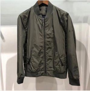 2021 Marca Moda Mens Luxo Casual Casual Designer Casacos Homens Casacos Top Zipper À Prova D 'Água Homem Casaco Tamanho S-XXL