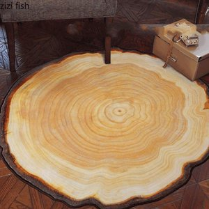 Carpets Round Annual Ring Living Room Carpet Home Decoration Minimalist Bedroom Coffee Table Swivel Chair Rug Door Mat