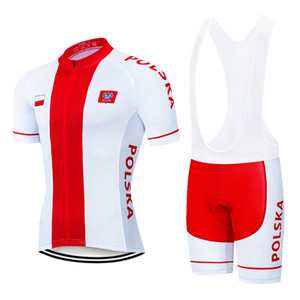 Tour De France 2021 Pro Team Poland Cycling Jersey Set Men Women Summer Breathable Short Sleeve Cycling Clothing Bib Shorts Kit