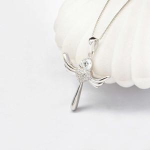HBP Shi Pei Beliebte Schmuck Mode Angel Wing Anhänger Persönlichkeit Herz Halskette gerade