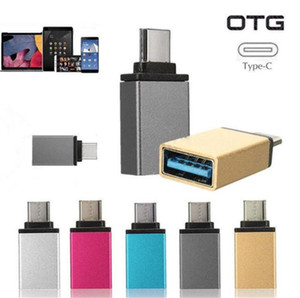 Colorful Metal USB-C 3.1 Type C Male to USB 3.0 Type A Female Adapter Converter OTG Connector for samsung s8 s9