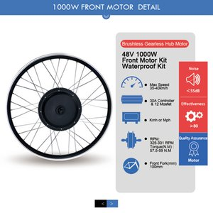 Electric Bicycle Kit Motor Front drive conversion 26 inch 1000W 48V mountain cross country beach snow vehicle Wheel Tires 1.95 motorcycle display LCD