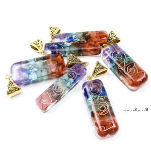Orgone Energy Orgo Energy Colgante Spirit Arcade Crystal Semi Gem Stone Meditación Siete Chakra Colgante Partido Artesanía Favor FWB5518