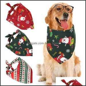 Supplies Home & Gardenchristmas Pet Bandana Cute Cartoon Lovely Dog Bib Ties Collar For Cats Dogs Party Dress Apparel Drop Delivery 2021 Do5