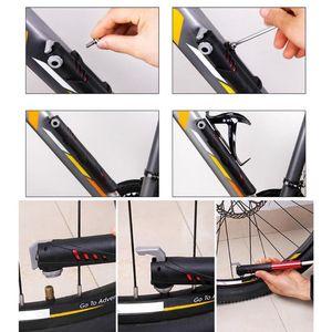 Bike Pumps Mini Portable Manual Pump High Pressure Compact Bicycle Air For Road Mountain Cycling Outdoor Repair