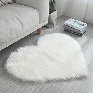 Carpets Heart Shape Carpet 7 Color Fluffy Fur Rugs For Home Floor Room Area Mats Rug Kids Silky Decor Bedroom Living