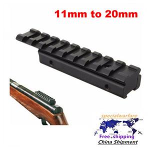 삼키기 꼬리 사냥 소총 에어건 장착 기지 11mm에서 20mm 어댑터 Weaver Picatinny Rail Ride Scope 확장 장착