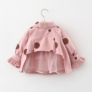 2021 New of the Girls Child Spring Long Coat Children Baby Clothes Outerwear Jackets Lh4i