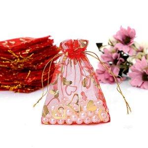 الجملة 400 أجزاء جميلة أكياس الأورجانزا الصغيرة 10 * 12 سنتيمتر صالح زفاف هدية حقيبة مجوهرات أكياس تغليف المجوهرات الحقائب 719 K2