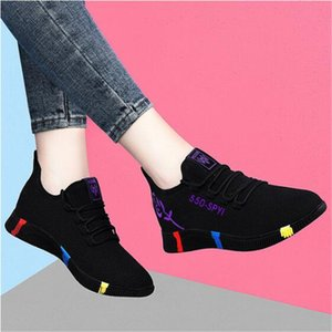2021 Woman casual shoes Ladies Shoes Woman Light bottom Comfortable sports shoes Lace-Up Breathable Female Platform Sneakers