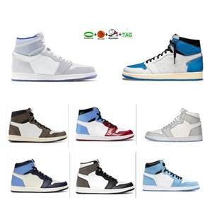 Hyper Royal OG University Blue 1 1s Mens Basketball Shoes Sail Obsidian UNC Silver Pure Starfish Fire Red Men Sports Women Sneakers Trainers Sport Designer Sneakers