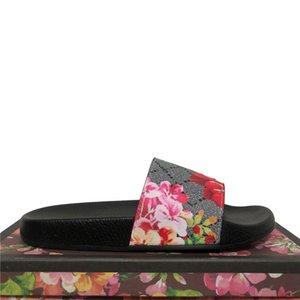 2021 Çiçek Kutusu Tasarımcısı Slaytlar Terlik Yaz Plaj Kapalı Düz Sandalet Terlik Erkekler Bayan Sandal Çiçek Brocade Nedensel Terlik ile Dus