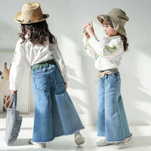 SK Newest INS Summer Spring Little Kids Girls Jeans Denim Trousers Jeans Girls Fashions Casual Denim Pants Long Trousers Children Clothes