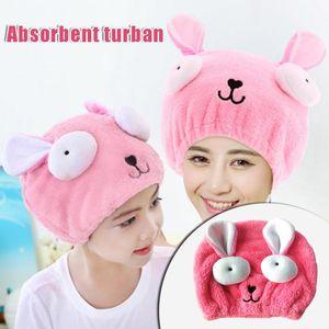 Towel Cute Cartoon Hair Drying Towels Quick Dry Hat Cap Twist Head For Adult Kids HYD88