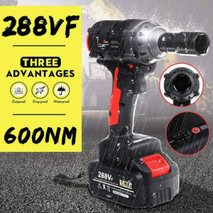 NEW!! 288VF 600NM Max Wireless Brushless Impact Wrench Power Tool With Charger Sleeve