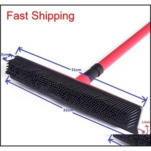 Squeegees Broom Pet Hair Removal Broom Telescoping Handle Carpet Rubber Broom Removable Rod Floor Water Remov jlloAu dayupshop