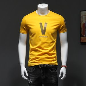 Luxury fashion men's letter bee striped embroidery shirt cotton mens designer T-shirt Men Women Short Sleeve Casual T Shirt