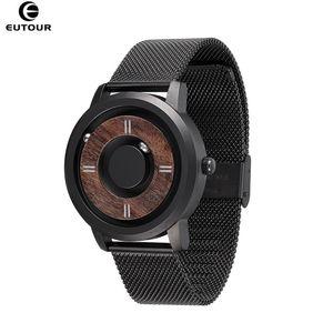 2020 Eutour Drive Magnetic Relojes para hombre Marca de lujo Reloj de cuarzo de lujo Hombre Hombre Madera Acero inoxidable Unisex Wristwatches C0227