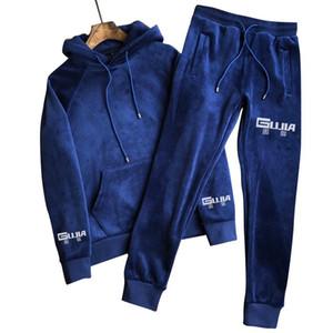 Italian gujia suit Autumn winter fleece hoodie large size men loose cardigan sport clothes thickened warm shake fleece coat men