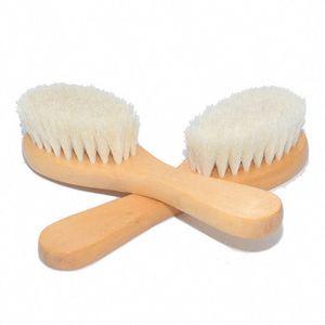 طفل فرشاة الشعر المشط الرضع الفتيات الفتيان مدلك النقي الشعر النقي حمام خشبي فرش البلاستيك الصوف الطبيعي رئيس