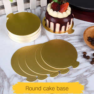 100pcs 9cm Round Mousse Cake Boards Decorative Disposable Cake Pizza Circle Cardboard Cakes Base Pastry Tool