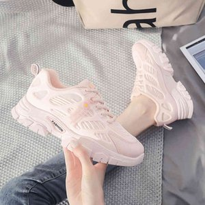 Training shoes Women Platform Sneakers Chunky Brand Casual Shoes Lace Up 's Sports Mesh Extended 's Trainers 0902