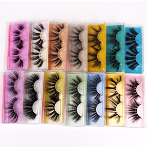 Thick Long 25mm Fake Lashes Natural Soft & Light Reusable Handmade 3D False Eyelashes Extensions With Eyelashes Brush 15 Models DHL Free