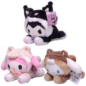 23cm Cartoon Stuffed Animals Kuromi My Melody Cinnamoroll Plush Toy Anime Kawaii Cute Soft Plushie Appease Girls Doll Toys Gifts