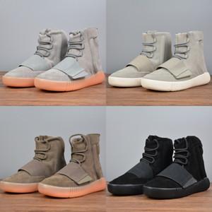 Chaud Sale Hommes Bottes d'hiver Kanye West 750 Chaussures de design 750 Bottes Hommes Chaussures Loisirs Jogging Sports Chaussures Femmes Bottes AlpinaisonBasket-B