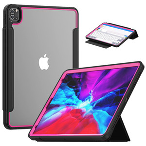 Acrylic 3-Layer-Protection Case For ipad pro 12.9 2020 2018 Magnet Smart Cover Shockproof Silicone Military