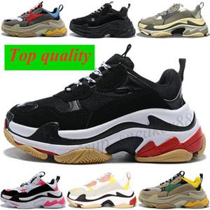 브랜드 파리 17FW 트리플 S 플랫폼 스니커즈 Mens 숙녀 블랙 레드 화이트 그린 캐주얼 아빠 신발 테니스 36-45