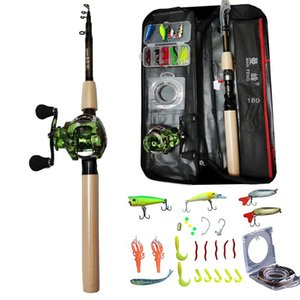 1.8m Casting Fishing Rod Combo and Reel Full Kit Baitcasting Fishing Reel Gear Pole Set 100M PE Line Lure Kit