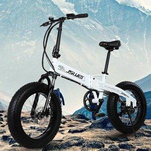Электрический велосипед 48V 10ah 20 дюймов Складной Электрический велосипед 20 * 4,0 дюйма толстая шина алюминиевая гора / снег / пляж eBike