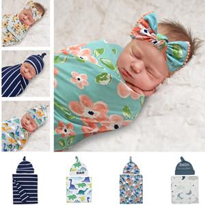 Wrapper bébé, chapeau, ensemble de sac de couchage, courtepointe en coton anti-promenades de style cocoon à la soie, couverture de balayage, nouveau-né de couverture bébé