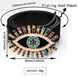 MultiStyle Женская кожаный горный хрусталь пояс 108см подарок для любви друг модные аксессуары высокого качества