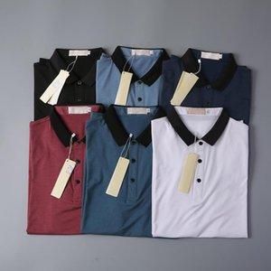 2021 Camiseta de negocios de lujo Nueva desgaste de los hombres Camiseta de manga corta 100% algodón Alta calidad al por mayor Tamaño S ~ 2XL envío gratis