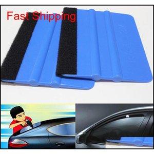 Blue And Red Optional With Cloth Scraper Color Film Soft Scraper Wool Cloth Square Scraper Car Foil Tool jllhuu dh_garden