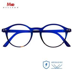Meeshow Blue Light Legger Glasses Elegante lettori per donna Designer Blue Blue Blocking Blocking Lunettes Glasses +0.0 +1.75 Anti